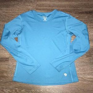 Mountain Hardwear Blue Long Sleeve Top, Size Sm